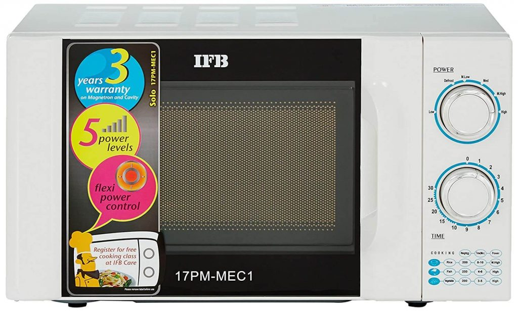 IFB 17L Solo Microwave Oven under 5000